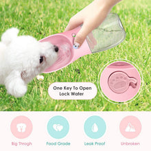 Load image into Gallery viewer, Rantion 350ml Pet Dog Bowl Portable Puppy Water Bottle Outdoor Travel Chihuahua Cat Feeder Dispenser Drinking Cup