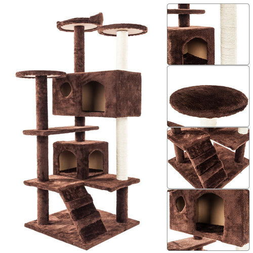 Solid Sisal Rope Plush Cat Climb Trees Cat Toy Pet Cat Tower Climbing Frame