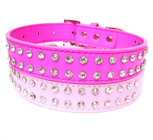 Load image into Gallery viewer, 2-Row Dog Collars - Baby Pink