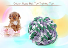 Load image into Gallery viewer, Weave Cotton Rope Knot Ball Dog Biting Toy