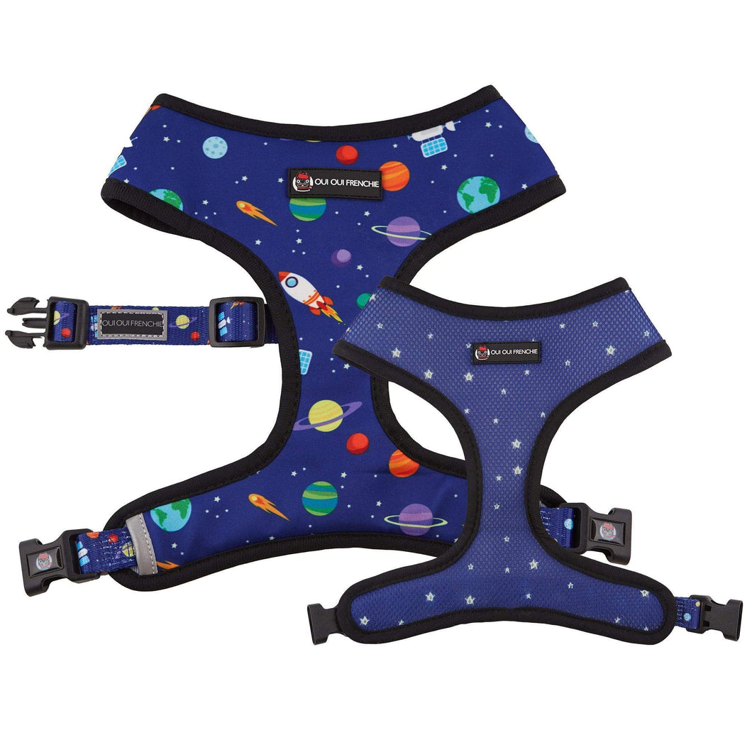 Oui Oui Frenchie Reversible Harness - Space