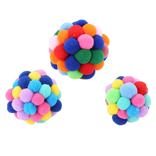 1pc Colorful Ball Cat Toys Bell