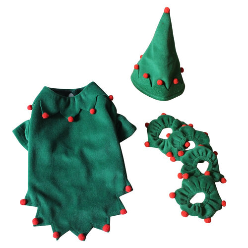 Christmas Dog Costume Soft Warm Dog Suit