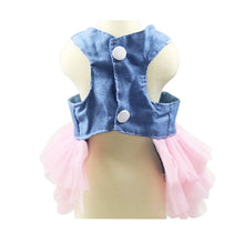 Load image into Gallery viewer, Fashion Jean Pet Tutu Skirt Bow Puppy Dog