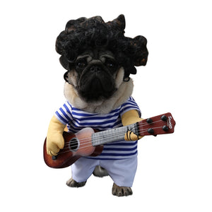Funny Guitar Dog Clothes Cosplay Dressing