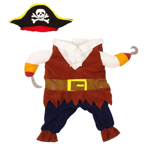 Pirate Pet Costume Halloween Dog Clothes