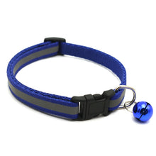 Load image into Gallery viewer, Reflective Charm and Bell Cat Collar Safety Elastic Adjustable with Soft Velvet Material 12 colors pet Product small dog collar