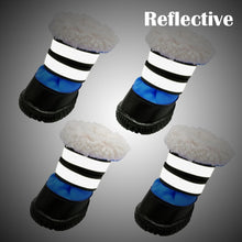 Load image into Gallery viewer, Winter Dog Shoes Waterproof Boots Pet Shoes Socks For Small Medium Dogs Non-slip Dog Shoe Bootie Snow Boots Reflective