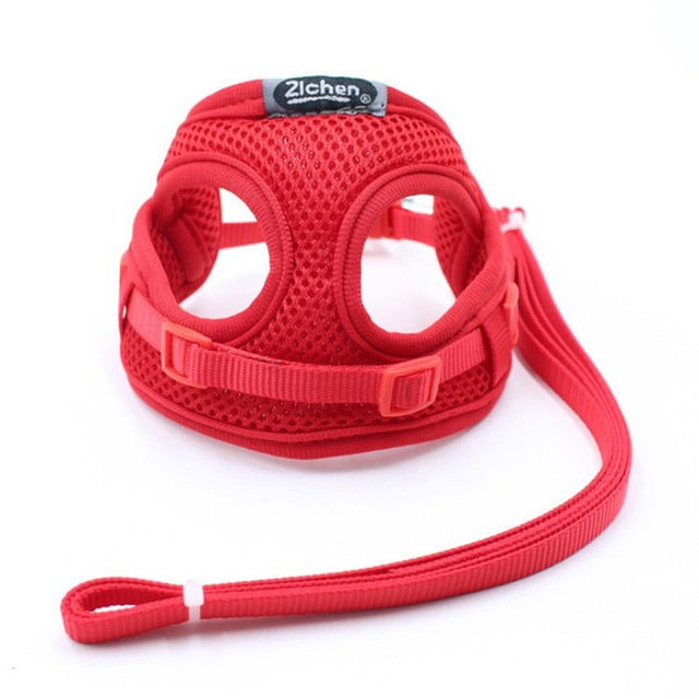 Comfort Dog Cat Harness Pet Adjustable Vest Walking Lead Leash Puppy Breathable Mesh Harness for Small Dogs Kitten gato perro