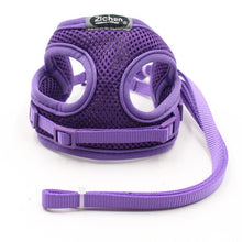 Load image into Gallery viewer, Comfort Dog Cat Harness Pet Adjustable Vest Walking Lead Leash Puppy Breathable Mesh Harness for Small Dogs Kitten gato perro