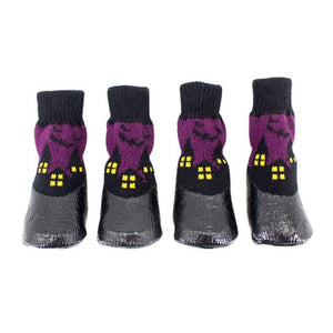 0-6 Size Cotton Rubber Pet Dog Shoes Waterproof Non-slip Dog Rain Snow Boots Socks Footwear For Puppy Small Cats Dogs 4pcs/set