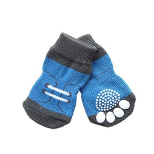 Load image into Gallery viewer, Hot Sales 11 Styles 4pcs Pet Dog Knitted Shoes Pattern Non-slip Socks Paws Cover Shoes Size S M L XL