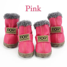 Load image into Gallery viewer, Winter Pet Dog Shoes Warm Snow Boots Waterproof Fur 4Pcs/Set Small Dogs Cotton Non Slip XS For ChiHuaHua Pug Pet Product PETASIA
