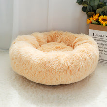 Load image into Gallery viewer, Pet Dog Bed Warm Fleece Round Dog Kennel House Long Plush Winter Pets Dog Beds For Medium Large Dogs Cats Soft Sofa Cushion Mats