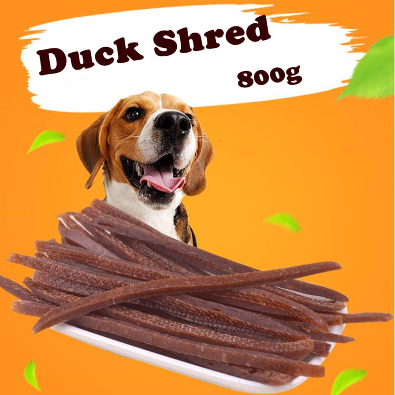 800g Duck Shreds Dog Cat Snacks Duck Meat Strip for Pet