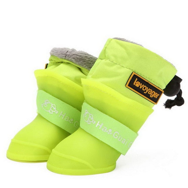 Pet Dog Rain Boots Silicone Antiskid Waterproof Protective Warm Dog Shoes XH8Z