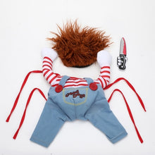 Load image into Gallery viewer, Pet Dog Halloween Clothes Dogs Holding a Knife Halloween Christmas Costume Novelty Funny Pet Cat Party Cosplay Apparel Clothing