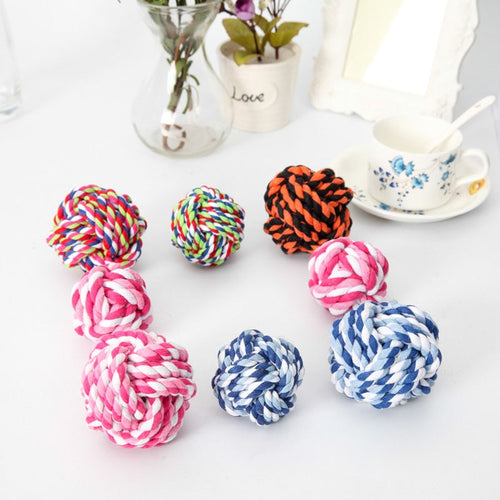 300pcs Pet Puppy Rope Dogs Cottons Chews Toy Ball Play Braided Bone Knot For Fun ZA6107