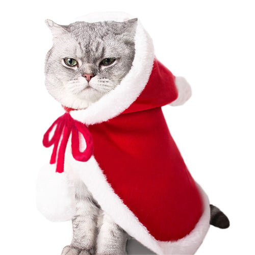 Funny Dog Cat Costume Christmas Cloak Halloween Disguise Clothes For Cats New Year Suit For Small Dogs Pet Photo Props Accessory