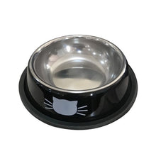 Load image into Gallery viewer, Thick Non-slip Cat Dog Food Bowl Foods Utensils Single Stainless Steel Pet Bowls l29k
