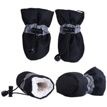 Load image into Gallery viewer, Creative 4 Pcs/lot Pet Dogs Shoes Rain Snow Waterproof Booties  Rubber Anti-slip Shoes For Small Dog Puppies Shoes Winter
