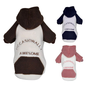Warm Pet Dog Cat Clothes Soft Fleece Hoodie Coat Puppy Dog Jacket Winter Clothing For Small Dogs Chihuahua Yorkie Outfits