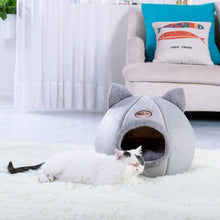 Load image into Gallery viewer, Pet Dog Cat Tent House Kennel cartoon Winter Warm Soft Foldable Sleeping Pad Animal Puppy Cave Sleeping Mat Nest Kennel  pet