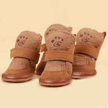 Load image into Gallery viewer, Cute Soft Bottom Comfortable Non-slip Winter Dog Shoes Waterproof For Small Dogs Pet Warm Brown Pink dog socks Pet's Favorite