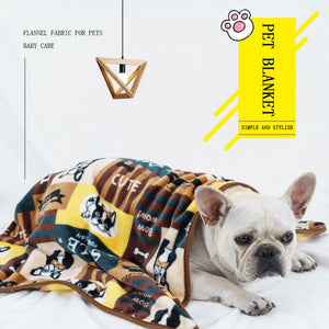 Thickening Flannel Pet Warm Blanket Dogs Bed For Autumn And Winter Dog Kennel Sleeping Mat Pad Dog Bed Pet Supplies