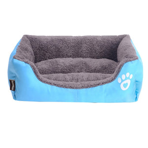 Free ship S-3XL Dogs Bed For Small Medium Large Dogs Pet House Waterproof Bottom Soft Fleece Warm cat Bed Sofa House 11Colors