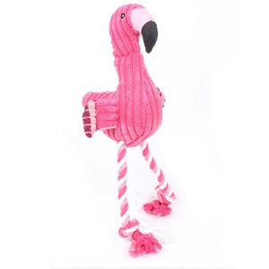 Pet Bite Chew Toys Plush Sound Dog Toy Flamingo Dog Supplies dog toys for small dogs  petshop