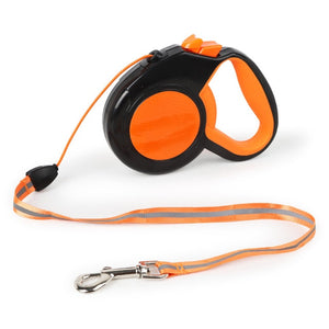 5/8M Durable Roulette for Dog Leashes Reflective Automatic Retractable Tape Nylon Extending Puppy Walking Running Pets Leads