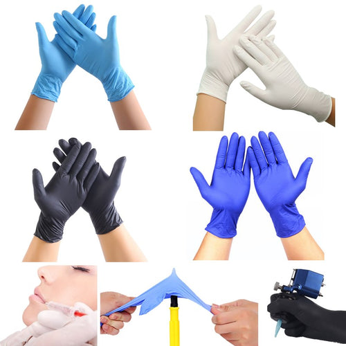50PCS Disposable Nitrile Rubber Gloves Dishwashing Rubber Gloves
