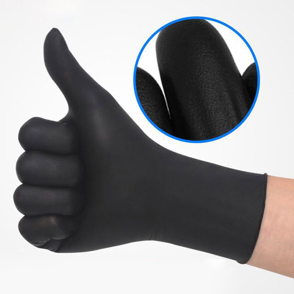100/50 Pcs Disposable Latex Gloves Universal Cleaning Work Finger Gloves Latex Protective Home Food For Safety Black