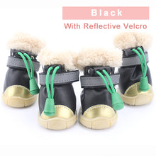 Load image into Gallery viewer, Winter Pet Dog Shoes Light Reflection Strip Waterproof Dogs Boots Warm Rubber Non-Slip for ChiHuaHua Cat Small Big Large PETASIA