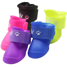 Load image into Gallery viewer, Pu 4Pcs/set Colorful Anti-Slip Skid Dog Cat Rain Protective Boots Waterproof Candy Colors Puppy Pet Rain Portable Shoes Boots
