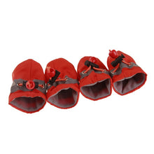 Load image into Gallery viewer, 4Pcs/set Pet Dogs Winter Shoes Rain Snow Waterproof Booties Socks Rubber Anti-slip Shoes For Small Dog Puppies Footwear Cachorro
