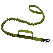 Load image into Gallery viewer, Army Tactical Dog Leash Nylon Bungee Leashes Pet Military Lead Belt Training Running Leash For Medium Large Dogs German Shepherd