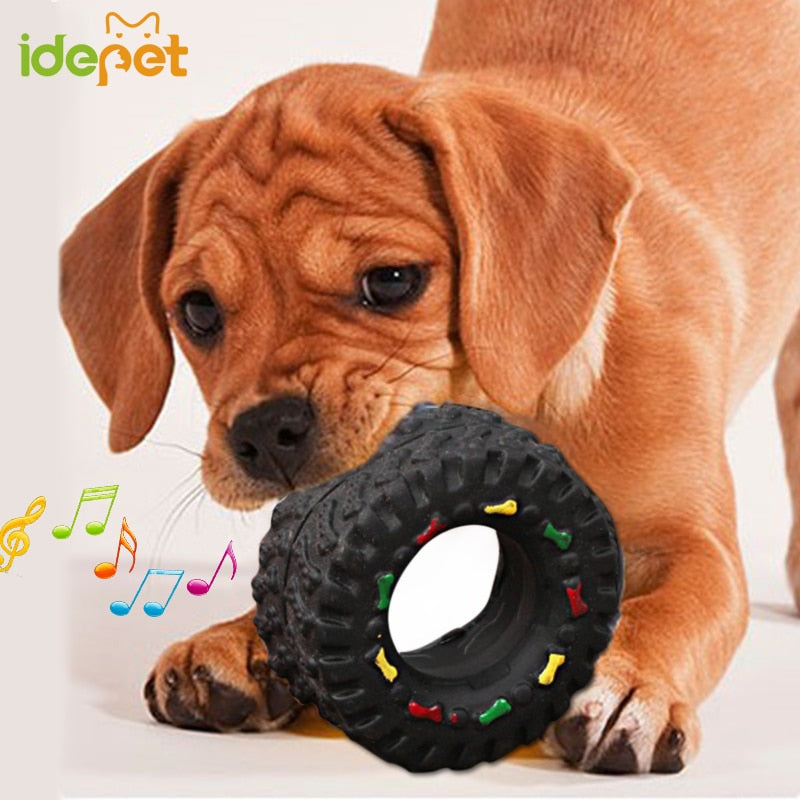 Dog Toys For Small Large Dogs Puppy Playing Training Squeaky Toy Tyre Treads Tough Pet Toys Pet Supplies Dog Juguetes Perro 10