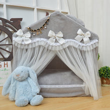 Load image into Gallery viewer, Pet supplies new fashion Korean pet dog bed portable house foldable house lace pet bed princess dog bed washable dog house