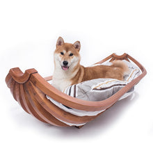 Load image into Gallery viewer, Large canine medium-sized dog Labrador pet furniture banana boat dog nest pet bed solid wood dog bed