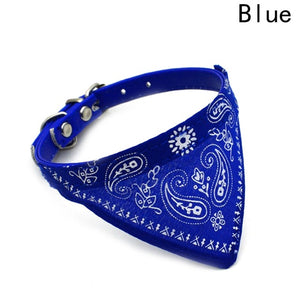 2018 New Fahsion Small Dog Scarf Adjustable Pet Cat Collars Scarf Neckerchief Necklace trigon Pet accessories