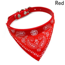 Load image into Gallery viewer, 2018 New Fahsion Small Dog Scarf Adjustable Pet Cat Collars Scarf Neckerchief Necklace trigon Pet accessories