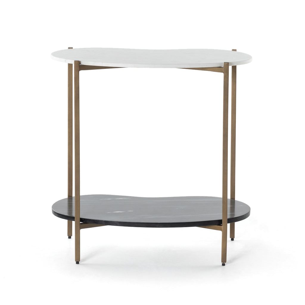 Gustavo Console Table - Polished White