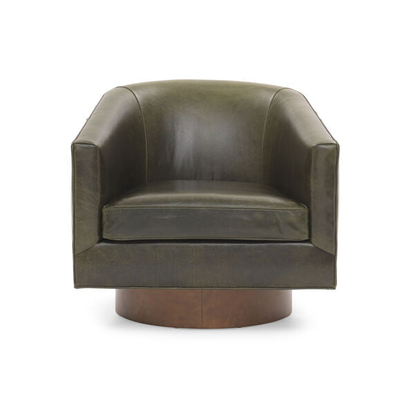 Bianca Return Swivel Leather Chair