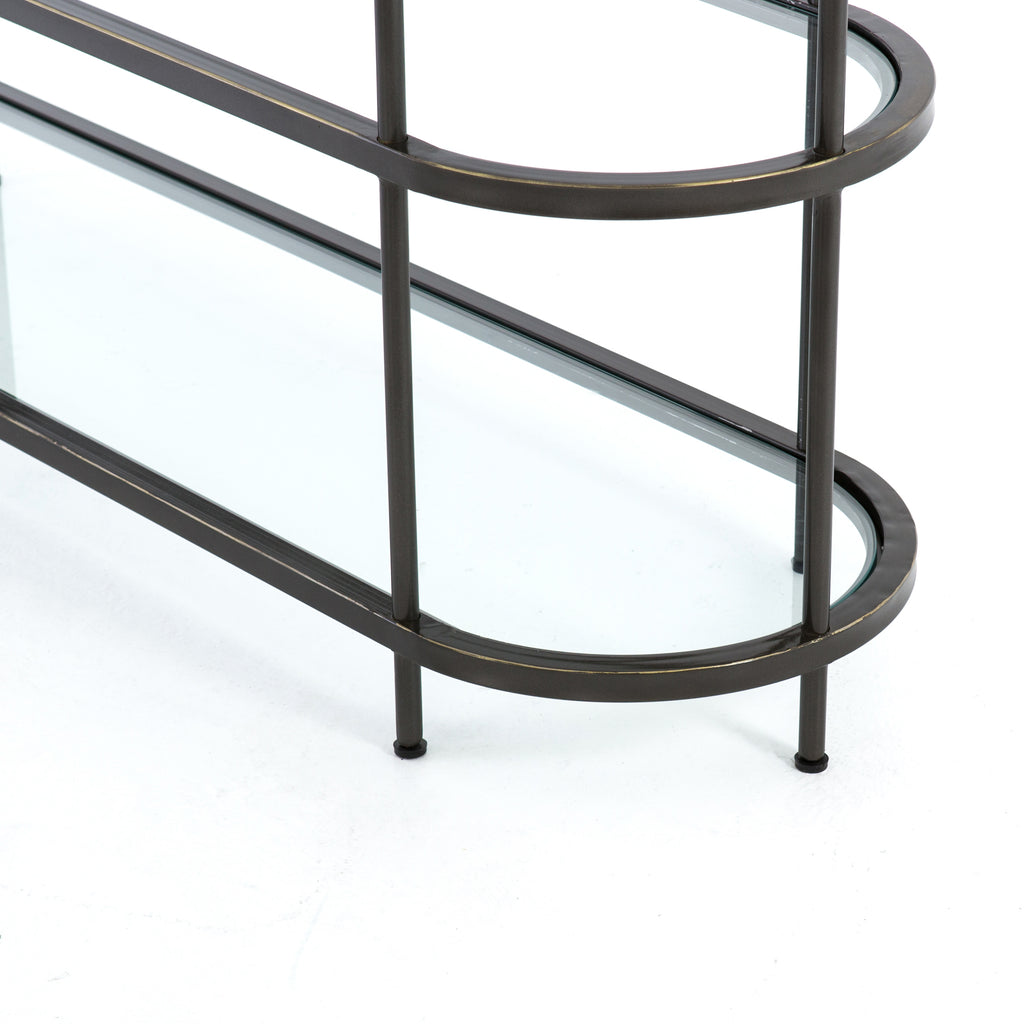 Lila Media Console - Rubbed GunMetal