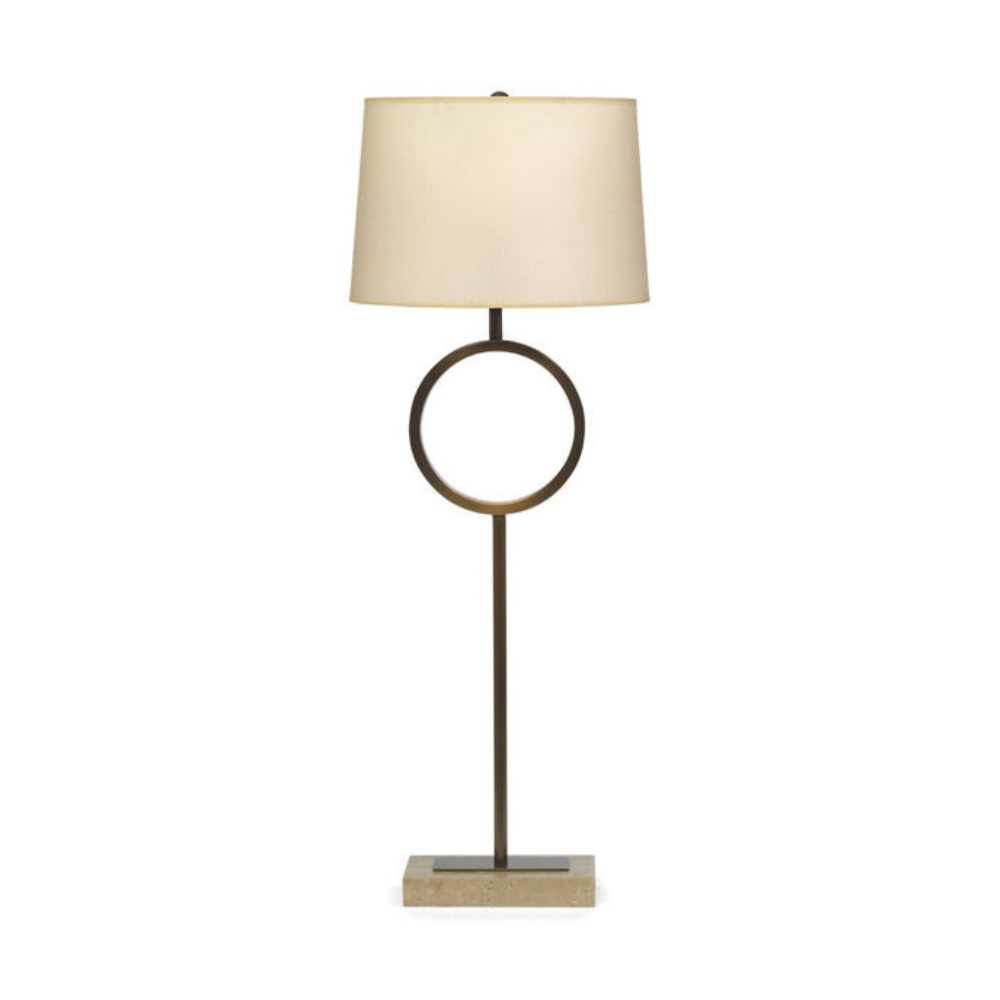 Marco Buffet Lamp - Aged Brass With White Shade
