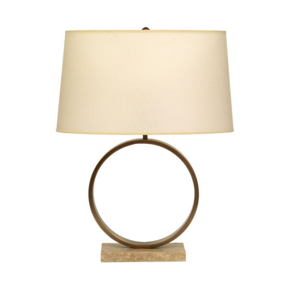 Marco Table Lamp - Aged Brass With White Shade