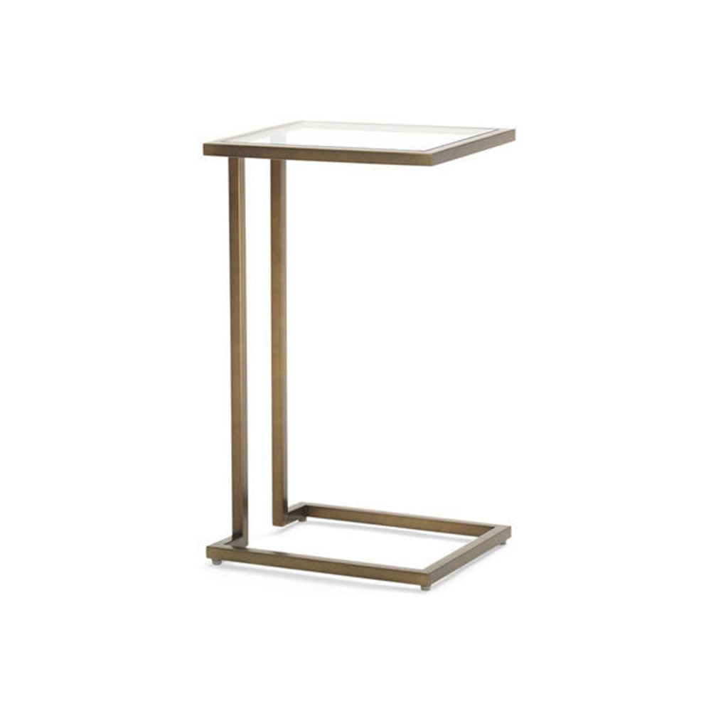 Vienna Pull-Up Side Table - Antique Brass