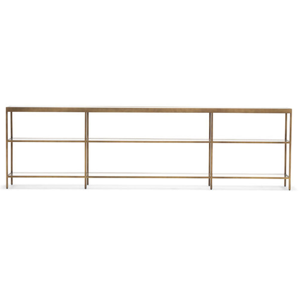 Vienna Low Bookcase Extra Large - Antique Brass